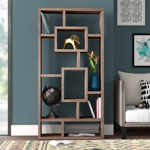 Review Mosher Geometric Bookcase