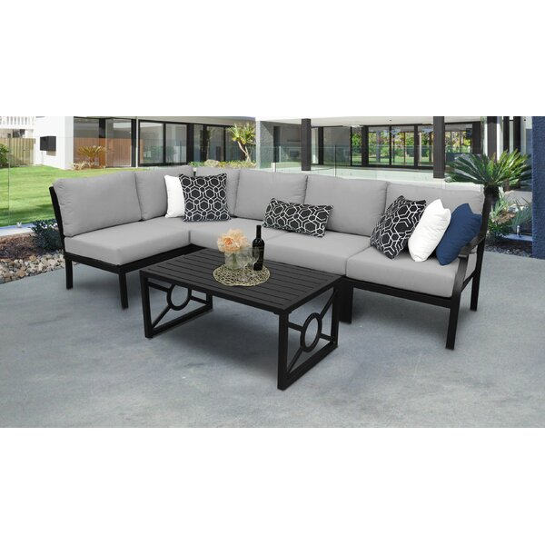 kathy ireland Madison Ave. 6 Piece Sectional Seating Group with Cushions by kathy ireland Homes & Gardens by TK Classics