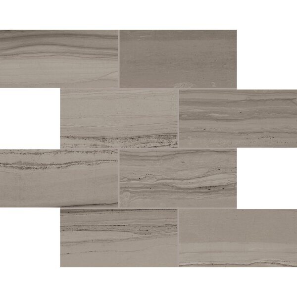 Travel Desert Rope 12 x 12 Porcelain Mosaic Tile in Burnished Slate by Lea Ceramiche
