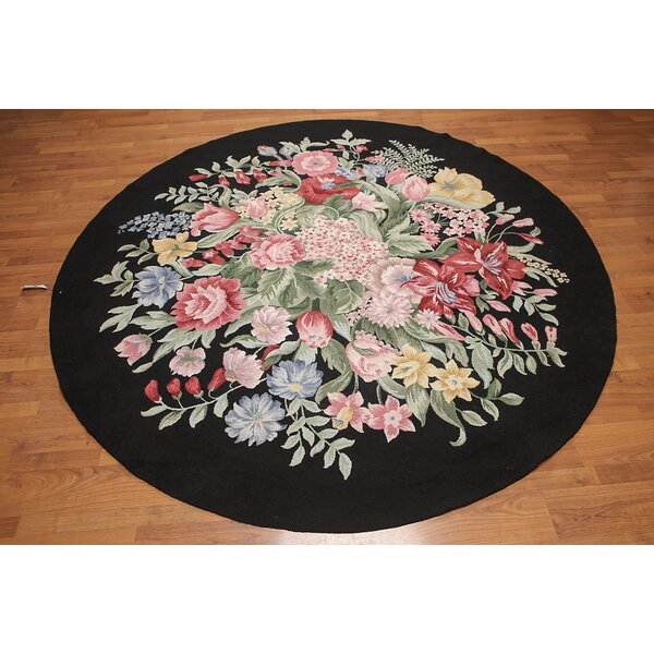 One-of-a-Kind Harte Hand-Knotted Wool Black Area Rug by Astoria Grand