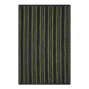 Read Reviews Kylee Hand-Braided Black Indoor/Outdoor Area Rug By August Grove