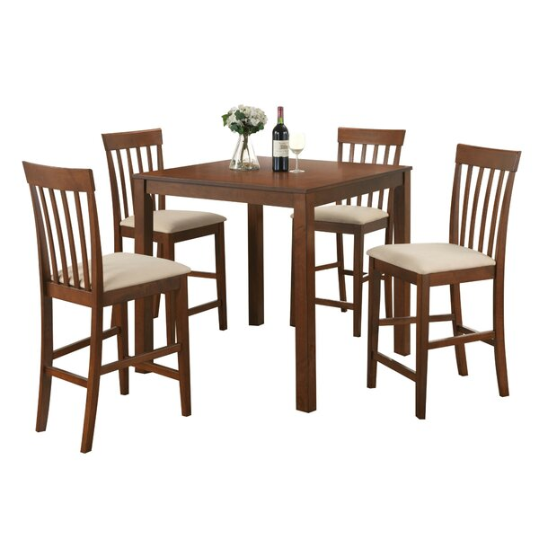 Kubiak 5 Piece Counter Height Dining Set by Charlton Home
