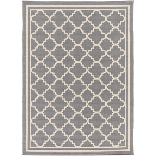 Osage Gray/Ivory Area Rug by Charlton Home