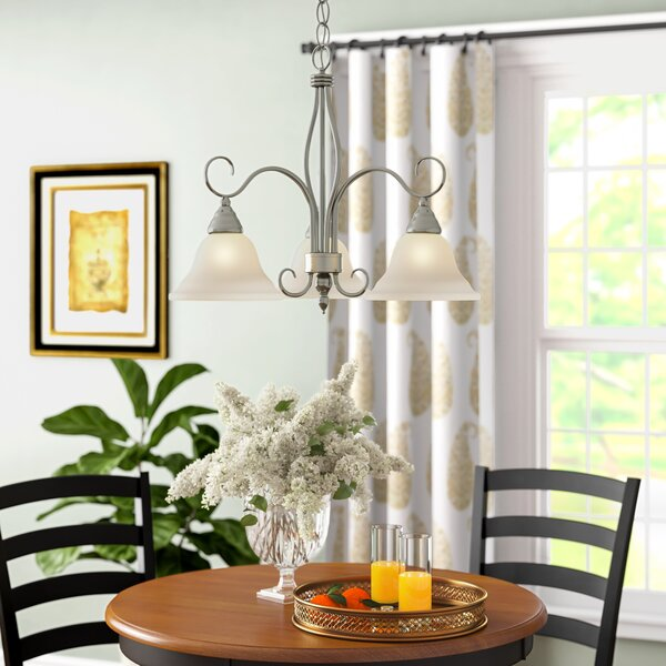 Hibbitts 3-Light Shaded Classic / Traditional Chandelier By Alcott Hill