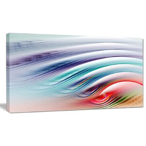 'Water Ripples Rainbow Waves' Graphic Art on Wrapped Canvas by Design Art