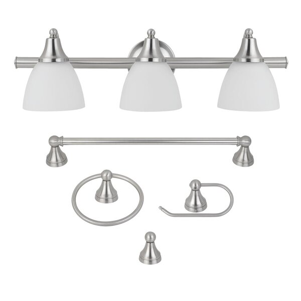 Estorial 5 Piece Bathroom Hardware Set by Globe Electric Company
