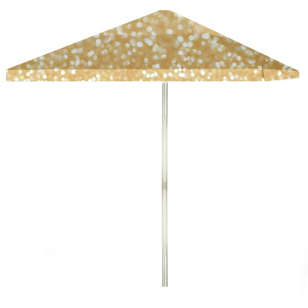 Glitter Me Gold 6' Square Market Umbrella by Best of Times