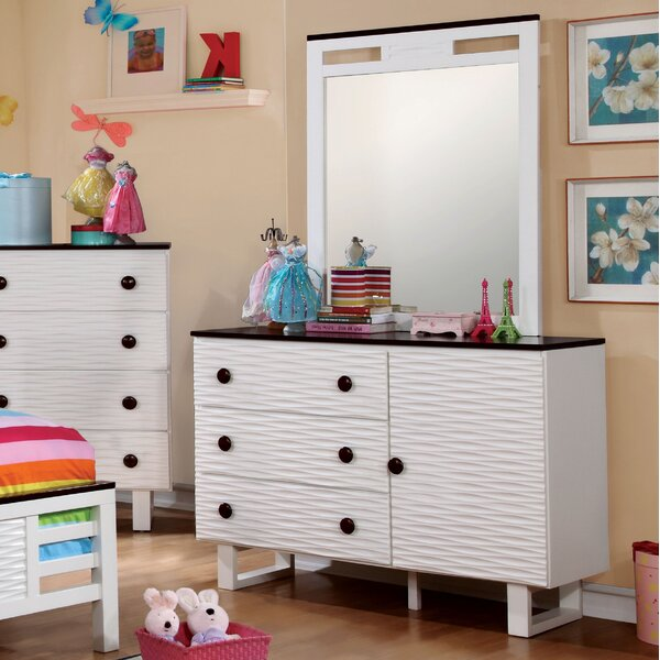 Nita 3 Drawer Dresser with Mirror by Viv + Rae