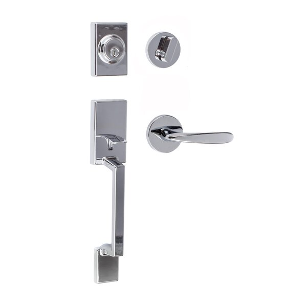 Stockholm Single Cylinder Entrance Handleset by Sure-Loc Hardware