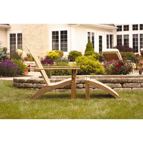 Teak Adirondack Chair with Ottoman by Three Birds Casual