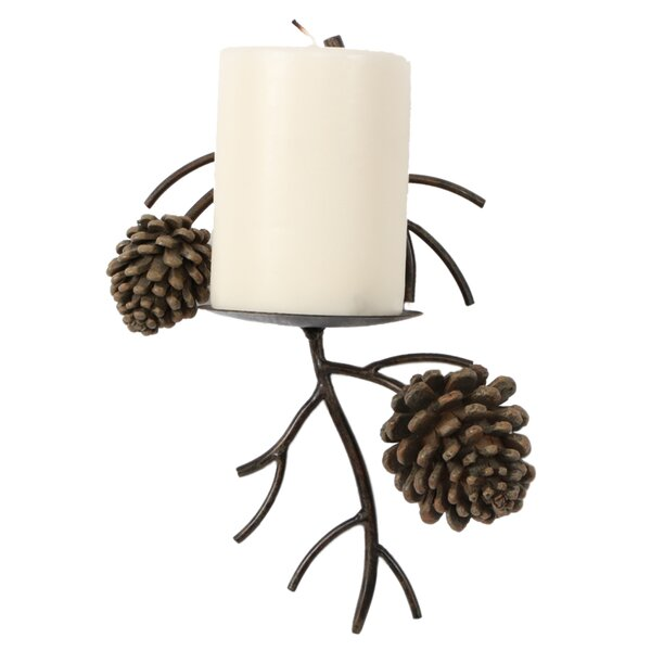 Pinecone Iron Sconce by Loon Peak