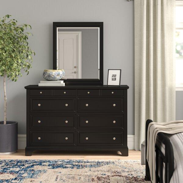 Cusick 8 Drawer Dresser with Mirror by Three Posts