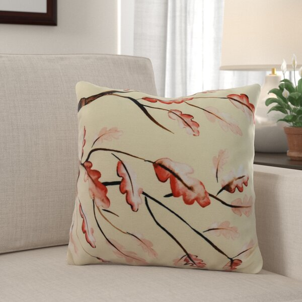 Lanz Wild Oak Branch Cream Floral Throw Pillow by Winston Porter