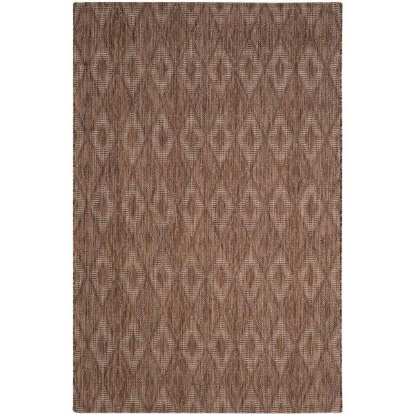 Ferdinand Brown Indoor/Outdoor Area Rug by Modern Rustic Interiors