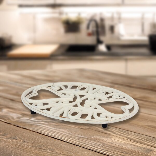 Pettine Rustic White Love Trivet by August Grove
