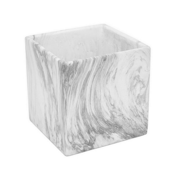 Marble Look Ceramic Planter Box by Three Hands Co.