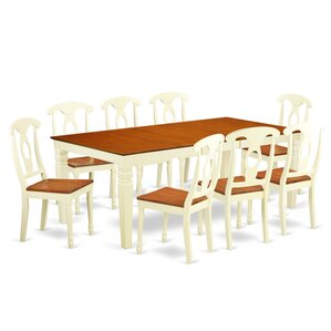 Beesley 9 Piece Rectangular Buttermilk/Cherry Dining Set by Darby Home Co