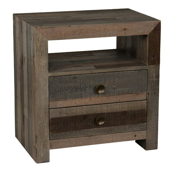 Ali Wooden 2 Drawer Nightstand by Loon Peak