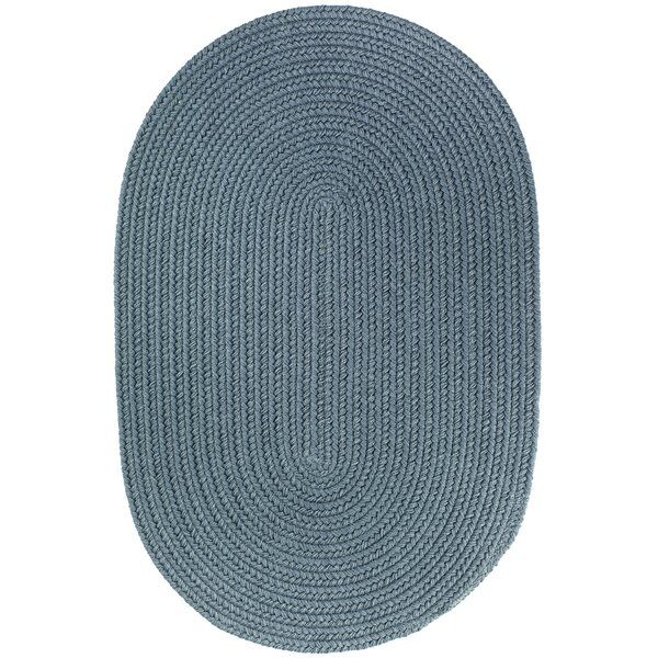 Handmade Ocean Blue Indoor/Outdoor Area Rug by The Conestoga Trading Co.