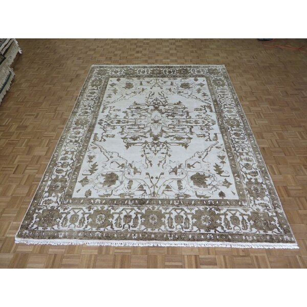 One-of-a-Kind Josephson Hand-Knotted Ivory Area Rug by Canora Grey