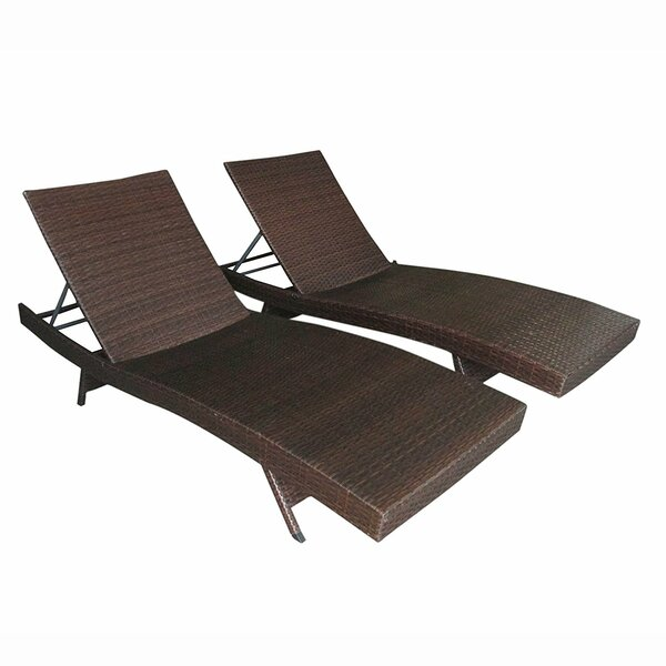 Rosas Adjustable Wicker Patio Chairs (Set of 2) by Red Barrel Studio