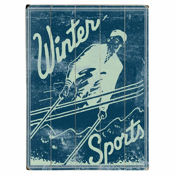 Winter Sports Graphic Art Print Multi-Piece Image on Wood by Artehouse LLC