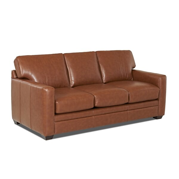 Carleton Leather Sleeper by Wayfair Custom Upholstery™