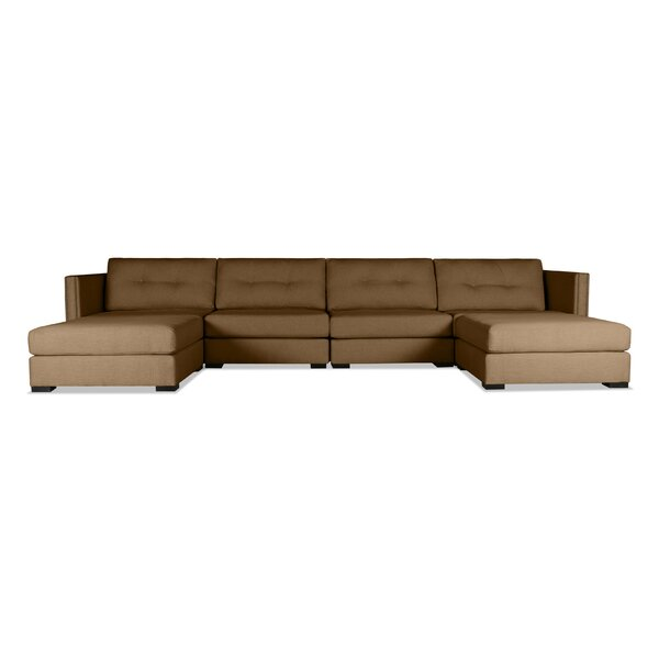 Timpson Buttoned U-Shape Double Chase Modular Sectional by Latitude Run