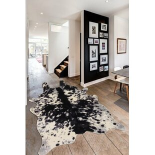 Best Reviews Chong Black/White Area Rug ByUnion Rustic