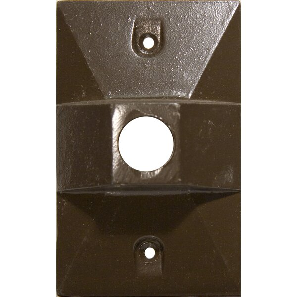 One Hole Rectangular Lamp Holder One Gang Weatherproof Covers by Morris Products