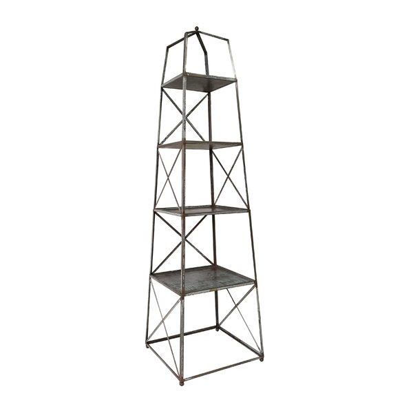 Elser 4 Tier Shelf Etagere Bookcase by 17 Stories