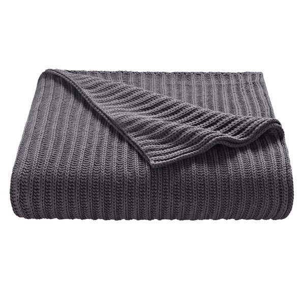 Chunky Knit Cotton Throw by SPLENDID HOME