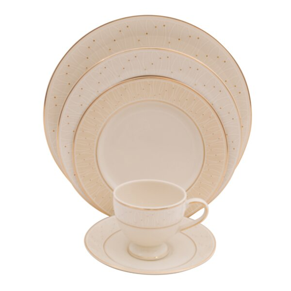 Palace 5 Piece Ivory China Bone China Place Setting, Service for 1 (Set of 4) by Shinepukur Ceramics USA, Inc.