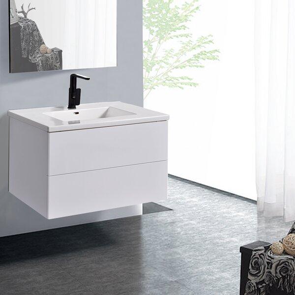 Mottla 19 Wall-mounted Single Bathroom Vanity