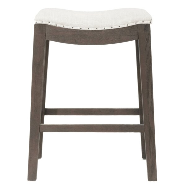 Duncombe Elevated Upholstered 27 Bar Stool by Ophelia & Co.