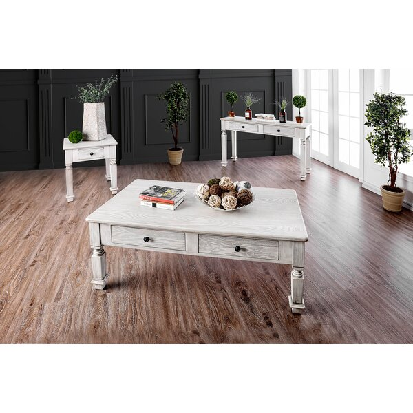 Cotton 3 Piece Coffee Table Set by Rosecliff Heights