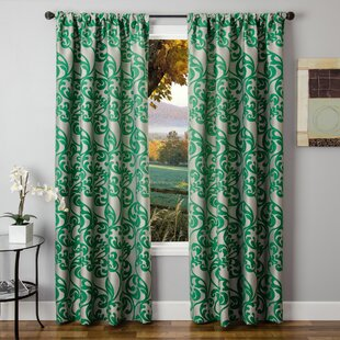 Mint Green Floral Curtains