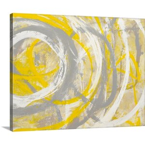 'Yellow Aura' by Erin Ashley Print of Painting on Canvas by Canvas On Demand