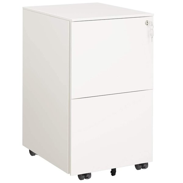 Taub Steel 2-Drawer Mobile Vertical Filing Cabinet