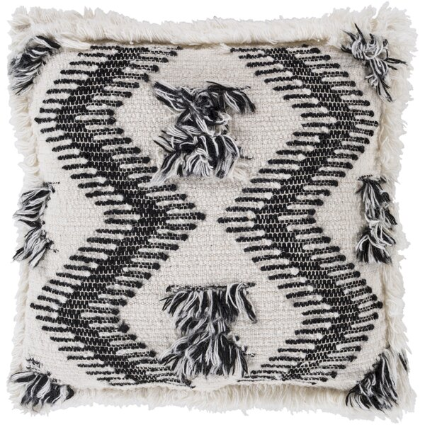 Zelah Handmade Embroidered Throw Pillow by Surya