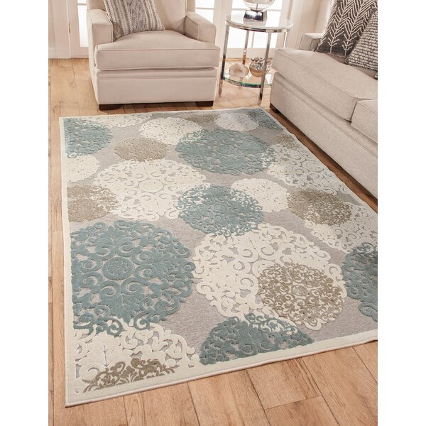 Muldoon Beige/Blue Area Rug by House of Hampton