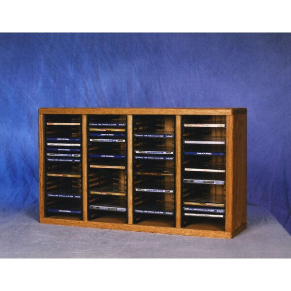 400 Series 80 CD Multimedia Tabletop Storage Rack by Wood Shed