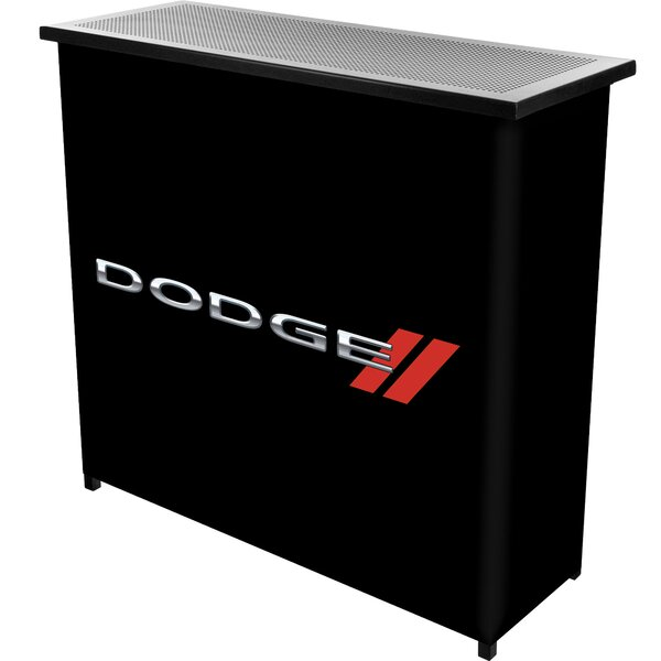 Dodge Logo Portable Home Bar by Trademark Global