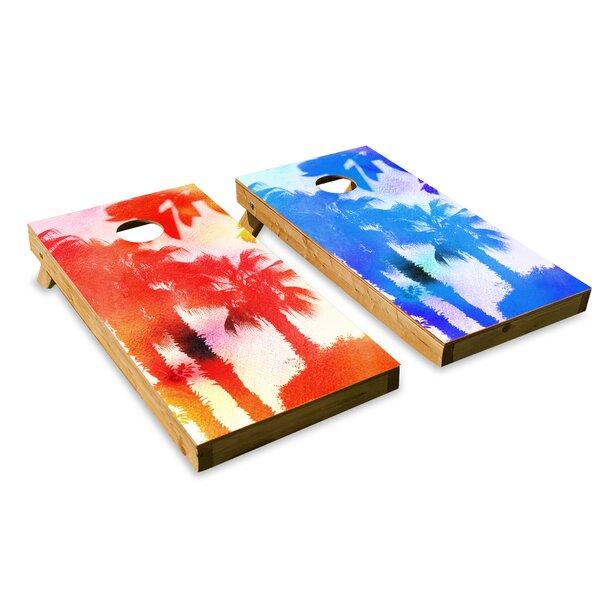 Palm Trees Cornhole Board (Set of 2) by The Cornhole Crew