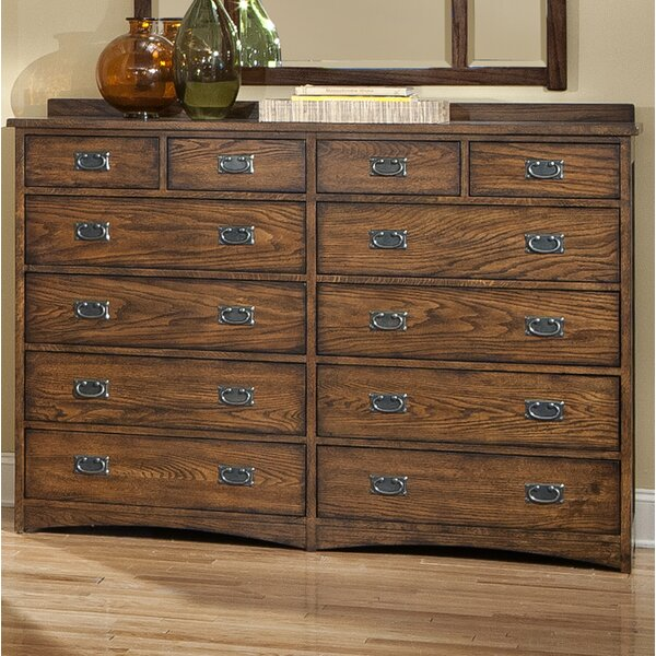 Boehme 12 Drawer Double Dresser by Foundry Select