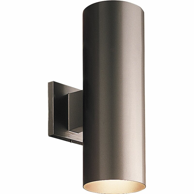 Everts Cylinder 2 Light Outdoor Sconce