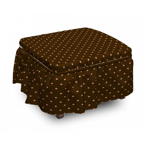 Cupcake Hearts Ottoman Slipcover (Set Of 2) By East Urban Home
