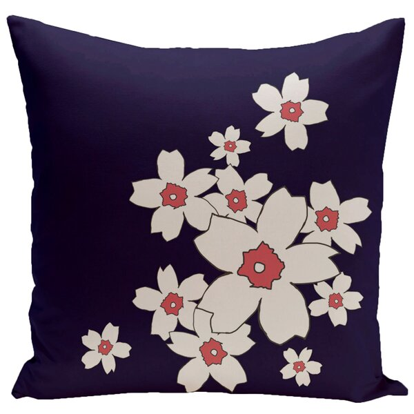 Floral Throw Pillow by e by design