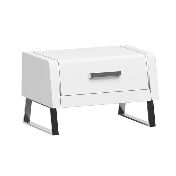 Bahamas 1 Drawer Nightstand by Whiteline Imports