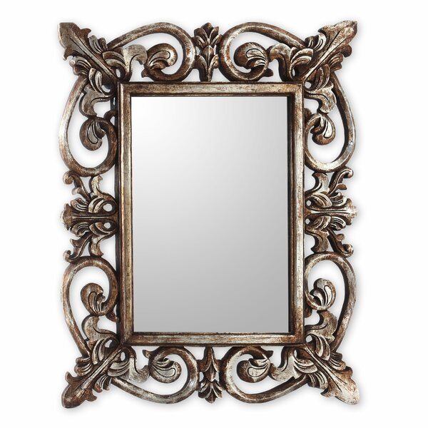 Georgian Georgian Style Carved Wood Wall Mirror by Novica